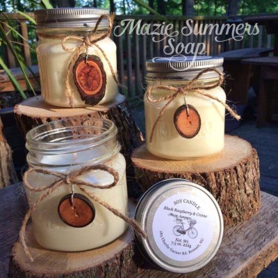 Soy Candles with Branch Button Charms